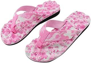 Gfengkuan Women Summer Flip Flops Thick Bottom Slippers Loafers Flat Sandals Camouflage Flip Flops Home Shoes Summer Shoes Slipper Indoor Outdoor Flip-flops Open Toe Sandals