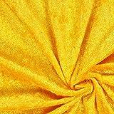 Fabulous Fabrics Pannesamt gelb – Weicher SAMT Stoff zum