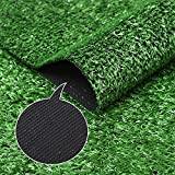 Césped artificial césped falso patio césped césped fútbol cancha de baloncesto al aire libre verde alfombra decorativa césped plástico artificial 2x25 m