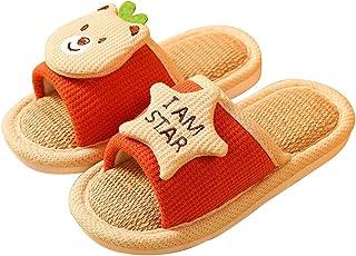 HOUFT Zapatos de Zapatillas de la casa de los niños pequeños Slip de algodón de Punta Abierta de Punta de algodón en Inter...