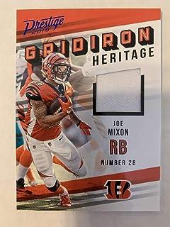 2019 Prestige NFL Gridiron Heritage Xtra Points Blue Jersey MEM #23 Joe Mixon Cincinnati Bengals Official Panini Football Insert Trading Card