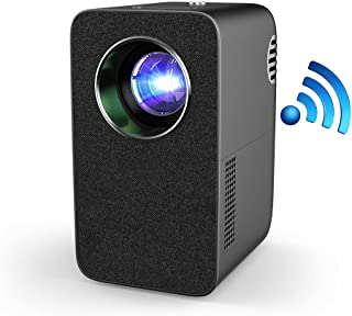 EUG WiFi Projector with Bluetooth Speaker, Wireless Screen Mirror from Smartphone, USB Wired Screen sync for iPhone, Nativ...