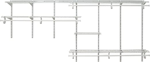 ClosetMaid 2091 ShelfTrack 7Ft. To 10Ft. Adjustable Closet Organizer Kit, White
