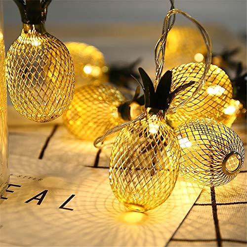 HMLIGHT Romantisches Gold Ananas LED-Schnur-Licht USB-Ananas-dekorative Lichter für Geburtstag Hochzeit 2M 3M 6M LED Garland,3musb