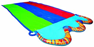 Banzai 16 ft. Triple Racer Water Slide with Giant Water-Spraying Rails