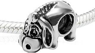 (TM) High Quality Silver Eeyore Donkey Sterling Bead Charm Fits EvesErose, Pandora, and Similar Bracelets