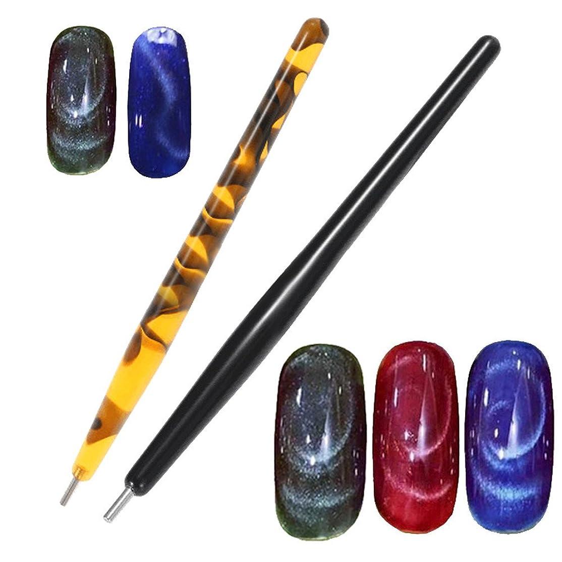扱う屋内でオークランド1 ピースマグネットペン磁気スティック猫目ジェルポリッシュ UV LED ネイルアートマニキュアツールネイルアート点在ツール pontilhado ペンラインストーン