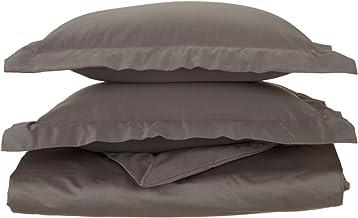 1200 خيط 100% قطن مصري، طبقة واحدة، غطاء لحاف كامل/كوين، متين، فحمي