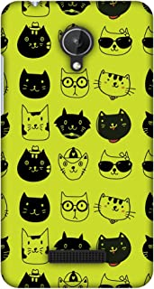 Micromax Canvas Spark Q380 Case, Premium Handcrafted Designer Hard Shell Snap On Case Shockproof Printed Back Cover for Micromax Canvas Spark Q380 - Cat Party