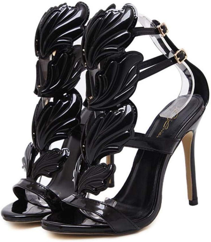 BAITUO Frauen High High Heel Sandalen Sandalen Damenschuhe Partykleid Schuhe Damen Lackleder  bis zu 70% sparen