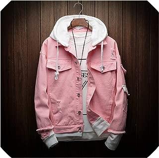 Denim Jacket Men Fake Two Pieces of Streetwear Bomber Jacket and Coat