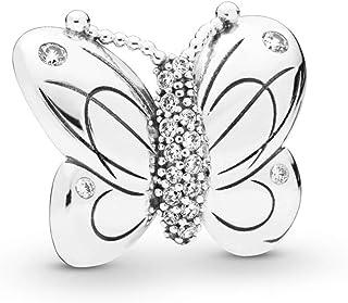 PANDORA Decorative Butterfly 925 Sterling Silver Charm - 797880CZ