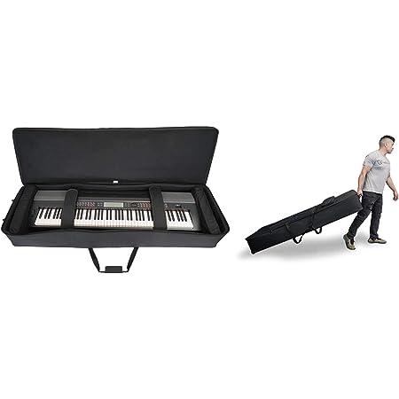 Rockville Rolling Bag 88 Key Keyboard Case W/Wheels+Trolley Handle+Large Pocket