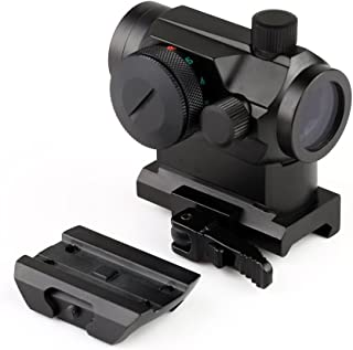 MGS Military Gear ABB Tactical Mini Micro Reflex Dot Scope Sight with QD Quick Riser Mount, Red