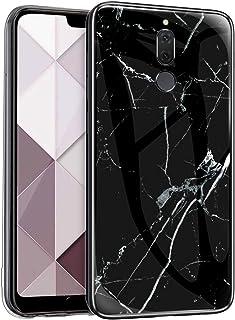 Funda Compatible con Huawei Mate 10 Lite Carcasas Cristal Vidrio Templado Glass Case Mármol Duro Carcasa 360 Grados Marble...