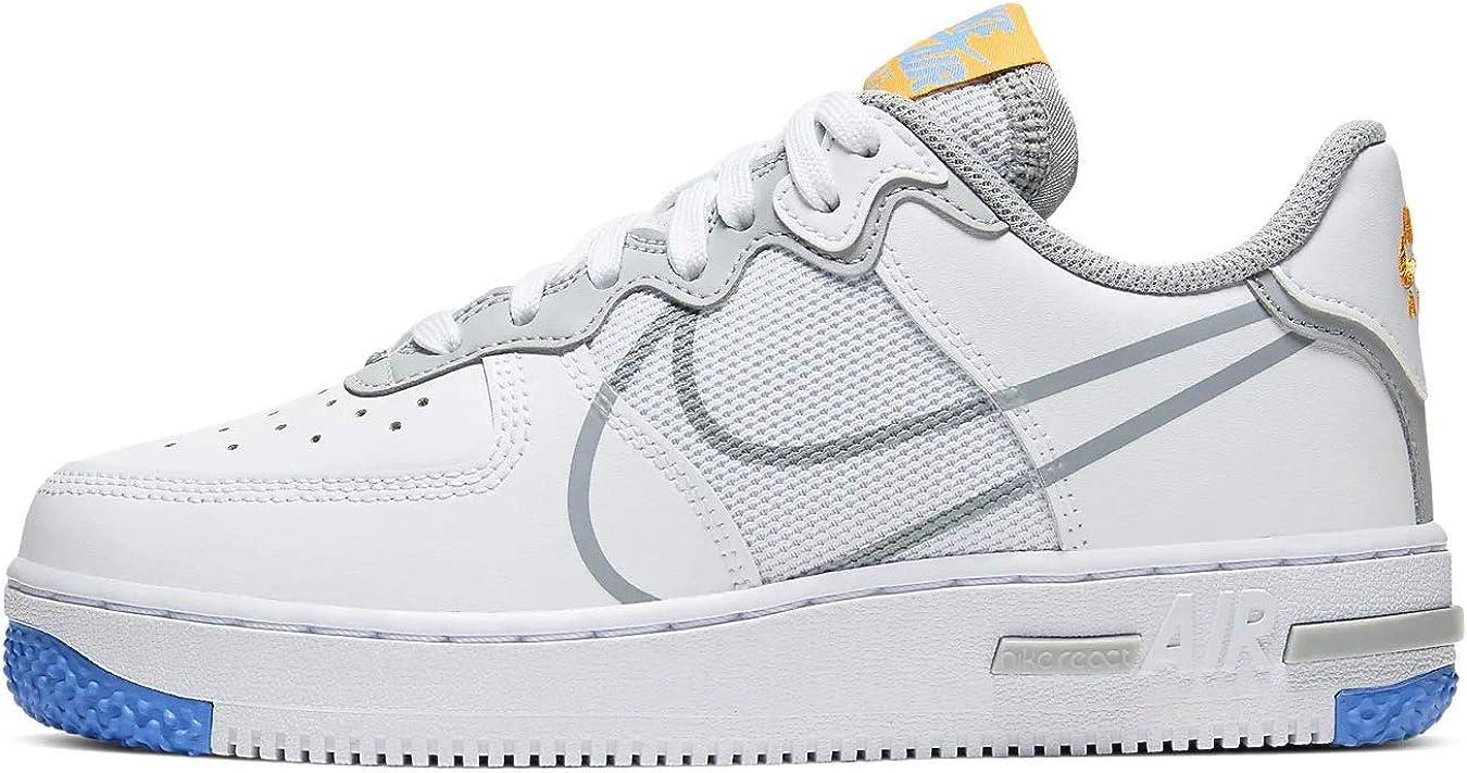 Amazon.com | Nike Air Force 1 React Su (gs) Casual Fashion Shoes ...