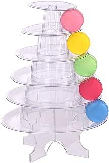 6 Tier Clear Round Cake Stand Dessert Tower Stand Wedding Birthday Display