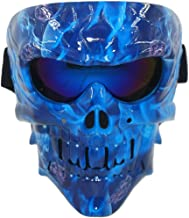 Vhccirt Paintball Mask Skull Face Mask with Goggles Tactical Airsoft Mask Eye Protection Skeleton Ghost Spooky Mask