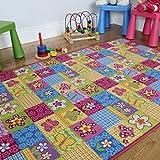 Alfombra para niños con diseño de Mariposas, de The Rugs House, Rosa, 100_x_150_cm