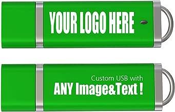 100PCS 4GB Custom USB Flash Drive Personalized Thumb Drive Logo Printed USB,100 Pack Green