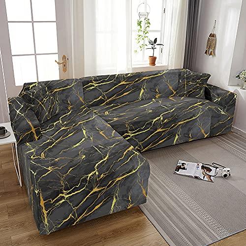 Geometryczne pokrowce na sofę do salonu elastyczne marmurowe narzuty narzuta na sofę L kształt narożnik pokrowce na sofę pokrowce na sofę, wzór 19,2 poszewka na poduszkę 45x45cm