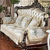 Funda Elástica de Sofá,Funda de sofá de doble cara funda de cojín de protección de muebles, combinación de sala de estar 123 funda de asiento de chaise longue,-Gris beige_50 * 60 cm (20 * 23 pulgadas)