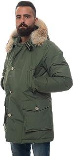 WOOLRICH Giaccone con 4 Tasche Arctic Parka DF Verde Cotone Uomo