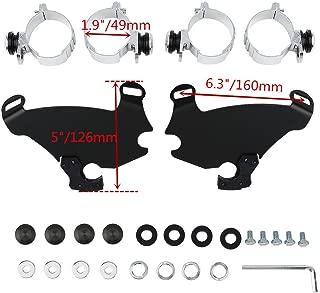 49MM Fairing Trigger Lock Mount Kit For Harley Dyna Low Rider Street Bob FXDB