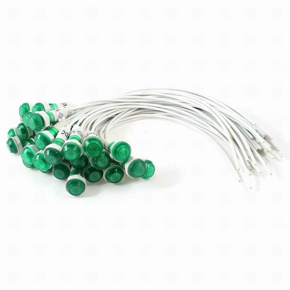 2021 spring and summer new Houseuse 30 Pcs Max 83% OFF 10mm Hole 19cm Long Cable Green Light Indicator