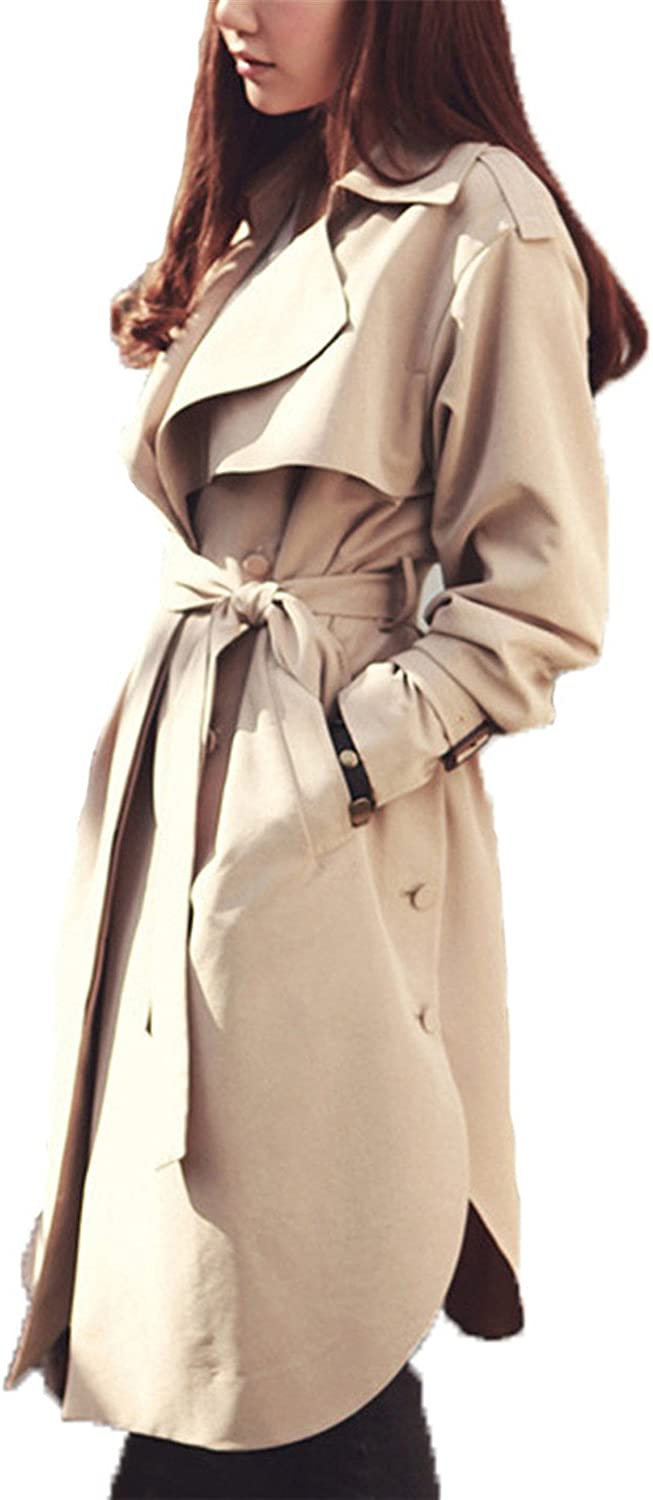 Reedbler women's Trench Coat long Outerwear loose clothes for lady good quality C0246