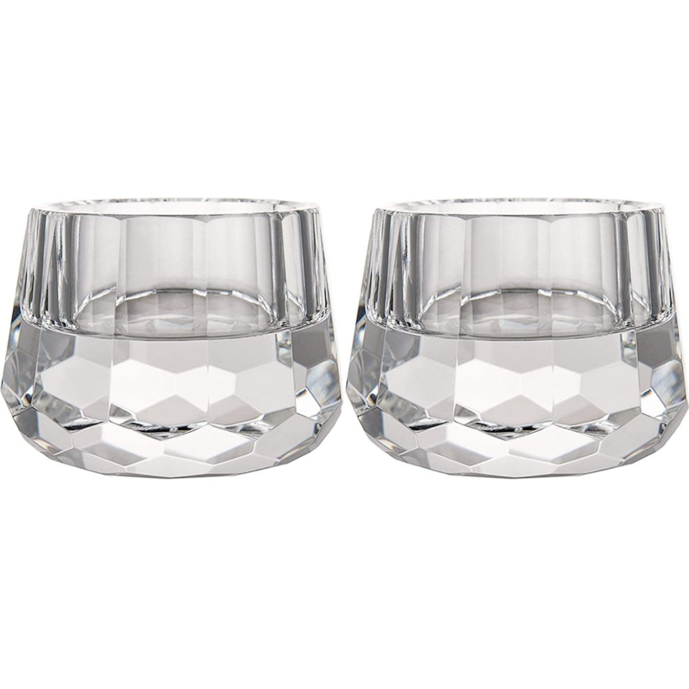DONOUCLS Crystal Votive Tealight Holders Christmas Decorations for Home 2.5