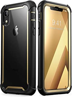 i-Blason Ares Full-Body Rugged Clear Bumper Case for iPhone XR 2018 Release, 6.1 Inch, Gold