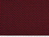 ab 1m: Schöner Jersey-Jacquard, schwarz-magenta, 150cm