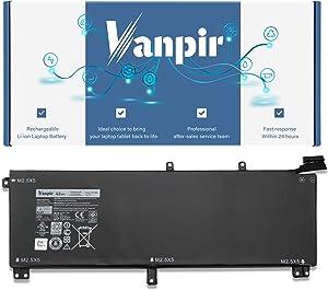 Vanpir T0TRM Laptop Battery, 11.1V 61Wh Replacement for Dell XPS 15 9530 Precision M3800 TOTRM H76MV 7D1WJ 9NJM1