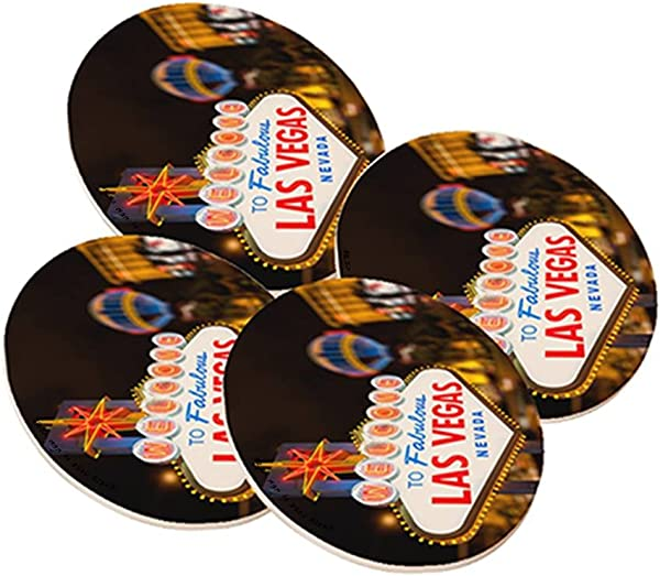 Sandstone Drink Coaster From Space Case By New Vibe Set Of 4 Fabulous Las Vegas