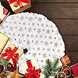 LATH.PIN Gonne per Alberi di Natale Festa Natale Partito Casa Vacanza Decorazione Natalea Tappeto Copertura Natale in Rosso Verde Bianco (Bianco-Giallo, M-90cm)