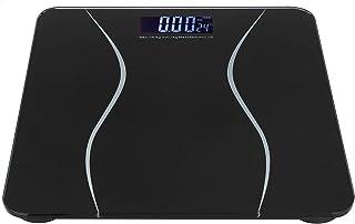Omabeta Escala de Peso LCD de tamaño pequeño Báscula de Cuerpo Digital Báscula de Fitness Multifuncional para Suministros domésticos(Black)
