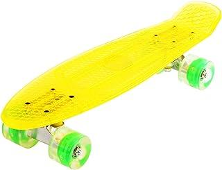 Maronad.GCP® 22 ZOLL TRANSPARANTE Retro Skateboard LED