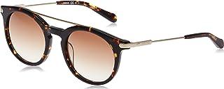 فوسيل نظارات شمسية دائري للجنسين، بني