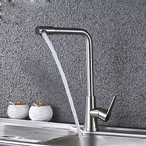 Moderne eenvoudige messing vervaardigd gepolijst warm en koud wastafel kraan badkamer wastafel kraan warm en koud water kraan roestvrij staal verticale single-type zeven-woord mixer