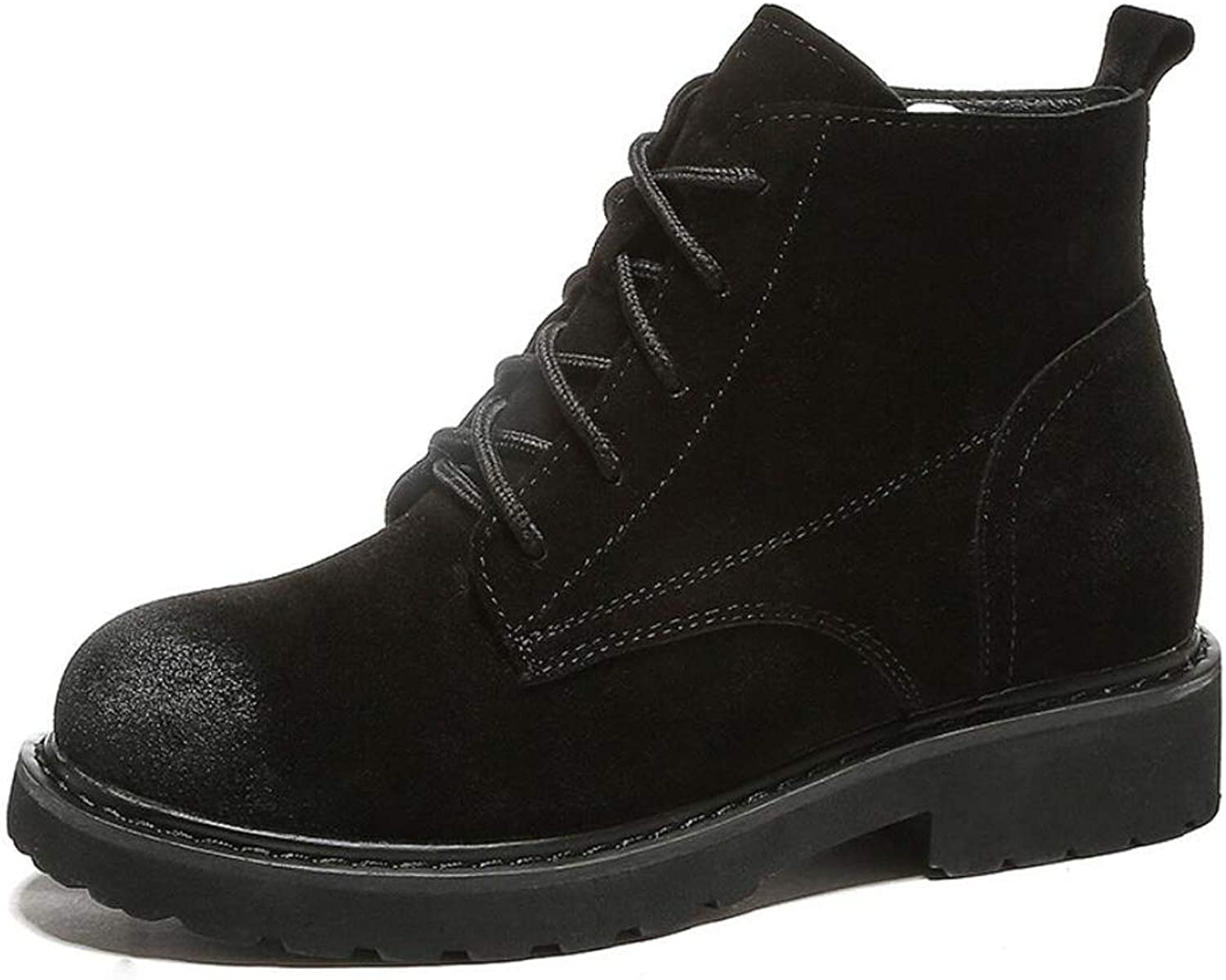 DANDANJIE Womens Martin Boots Retro Motorcycle shoes British Style Student Autumn Boots