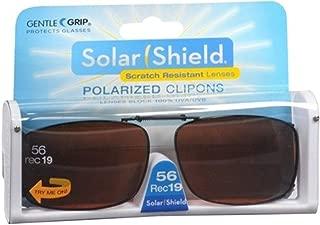 Solar Shield Polarized Clip-on Sunglasses 56 Rec 19 Gray Lenses Fits Full Frame