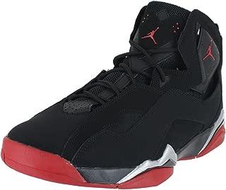 True Flight Men's Basketball Shoes Black/Gym Red-Metallic Silver 342964-001 (11.5 D(M) US)
