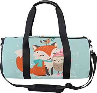 OuLian Gym Bag Funny Pineapple Women Yoga Canvas Duffel Bag Cute Sports Bag for Girls