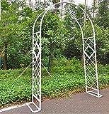 HPDOM Arcos de jardín Arco de jardín de Metal Diámetro de Tubo Redondo 20 mm Cenadores para la pérgola de jardín Cenador para Rosas Plantas trepadoras Fácil de Montar,White-260cm/102in