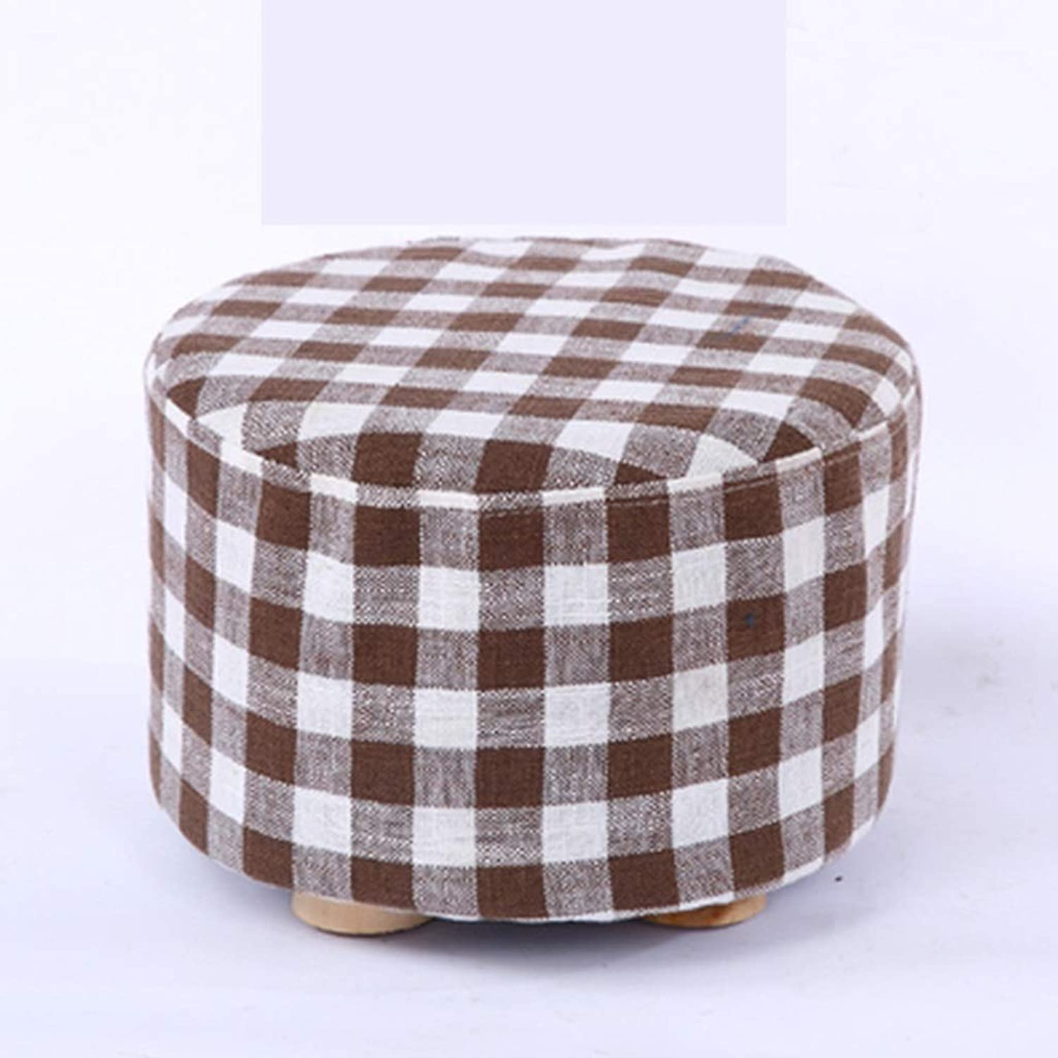 RHHWJJXB Cloth Stool Home Creative Stool Seat Small Bench Fashion Sofa Stool Solid Wood Stool Stool Coffee Table Without Legs (color   E)