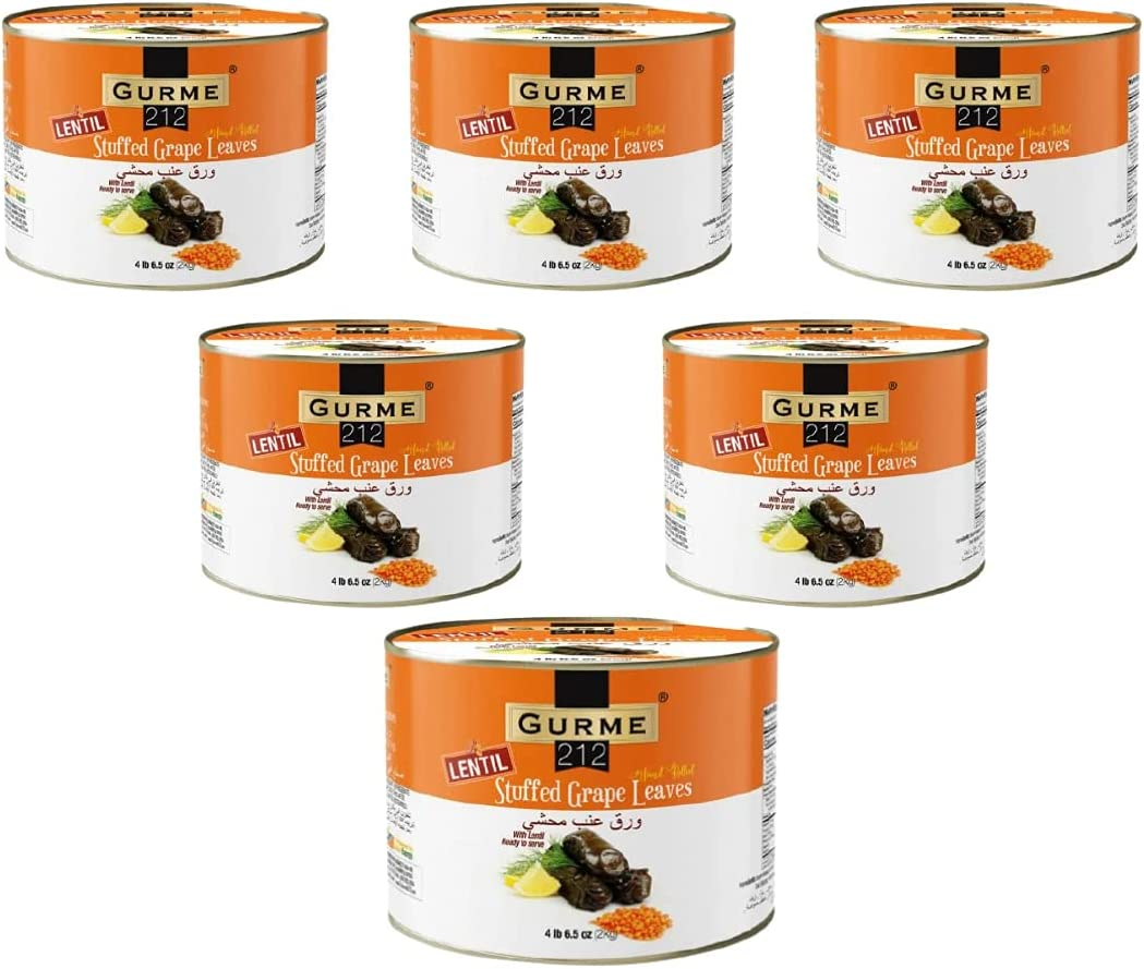 Lentil Max 71% OFF Stuffed Grape List price Leaves 4 Pound 6.5 Ounces 6- Gourm Pack of