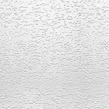 USG INTERIORS 4240 Tivoli Textured Ceiling Tiles,12x12 Inch, Qty 32.