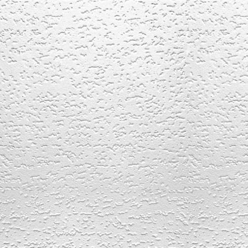 USG INTERIORS 4240 Tivoli Textured Ceiling Tiles,12x12 Inch, Qty 32.