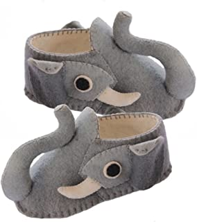 Elephant Slippers - Hand Felted Womens for Elephant Lover